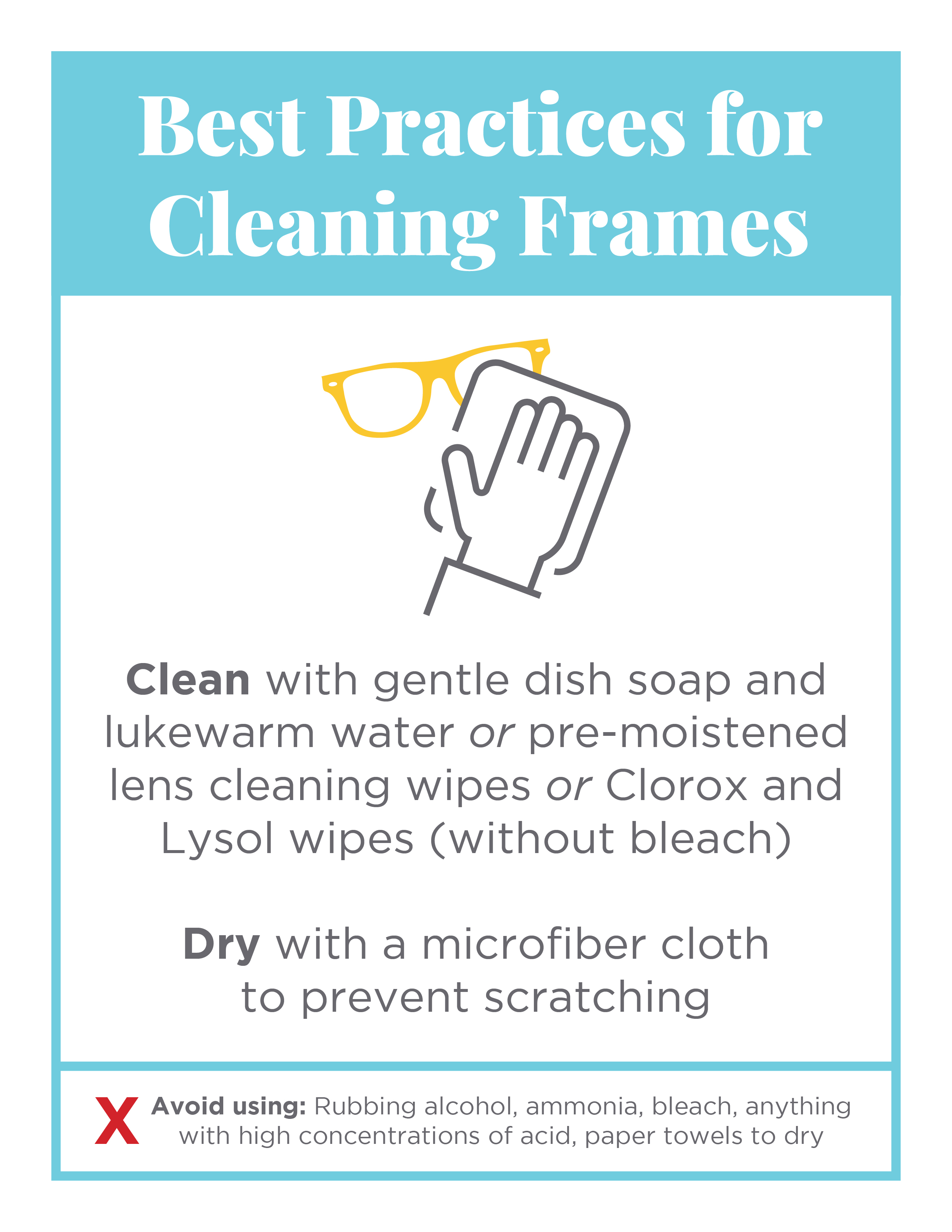 COVID19_BestPracticesForCleaningFrames_Flyer